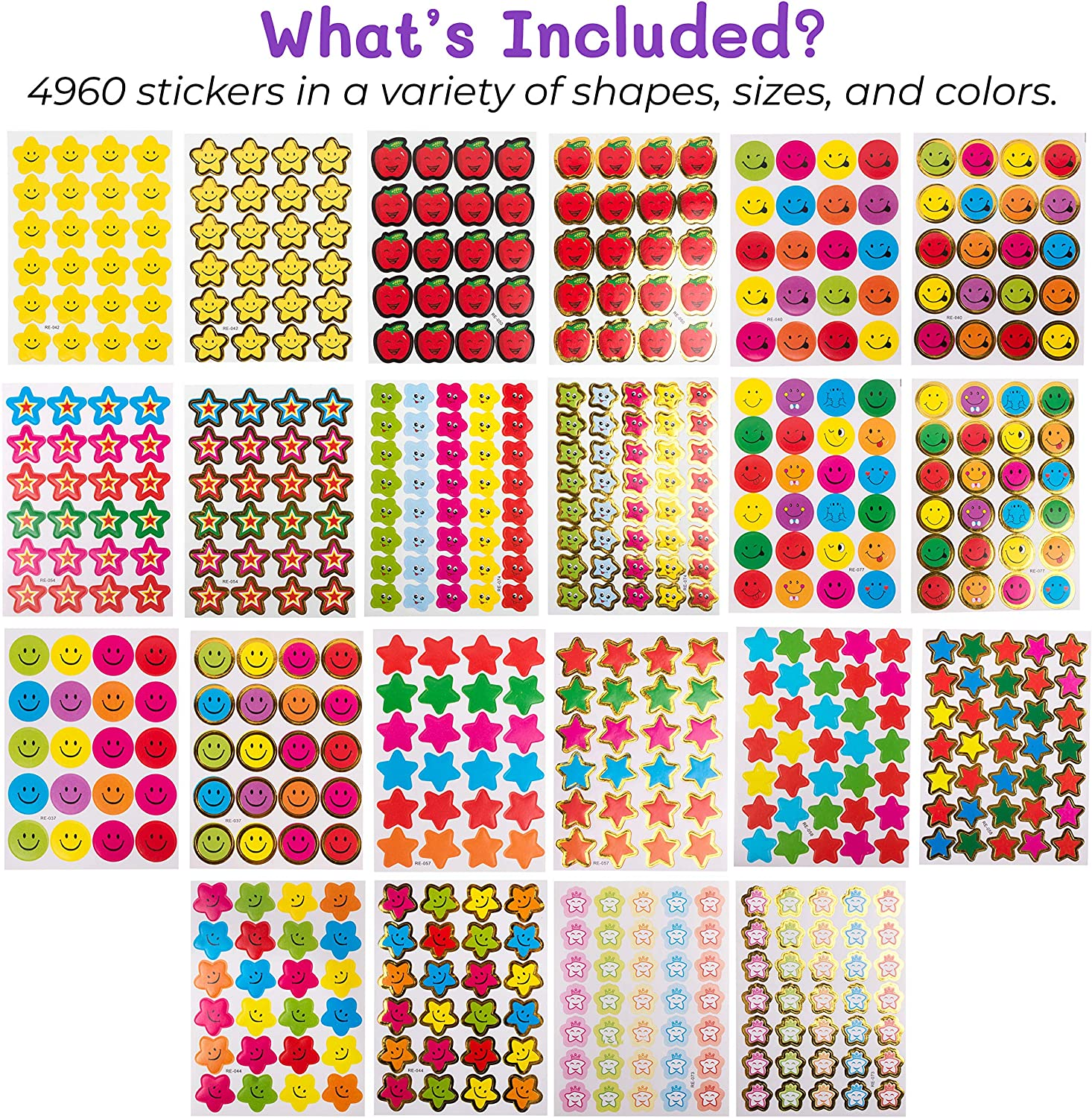 Purple Ladybug Teacher Stickers For Kids Mega Value Pack! 4960 Reward Stickers for Teachers & Incentive Stickers Sheets in Bulk for Classroom & School Use - with Star Stickers & Other styles Stickers! : Office Products