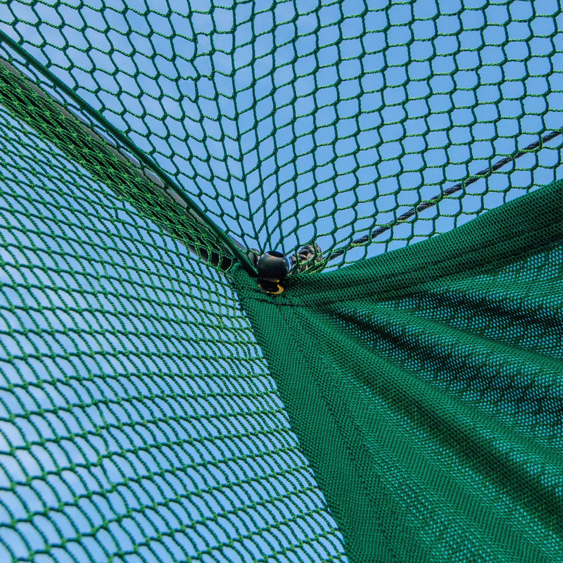 Replacement 10ft X 10ft Archery Grade Golf Impact Panel Netting (Green) – Super Strong Nets Guaranteed To Protect Your Golf Practice Cage From Damage [Net World Sports] by Net World Sports (Image #3)