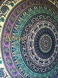 """Exclusive Branded Deer Mandala Hindu Tapestry By """"RAWYAL"""", Hippie Wall Hanging, Bohemian Bedspread"""