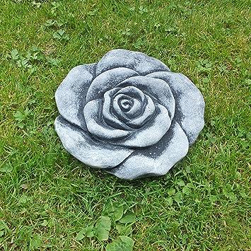 Steinfigur Steinblte Blume Rose Steinrose Steinguss Gartendeko