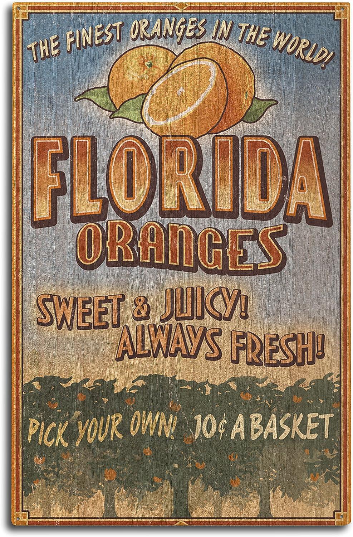 Lantern Press Florida, Orange Grove Vintage Sign 44345 (10x15 Wood Wall Sign, Wall Decor Ready to Hang)