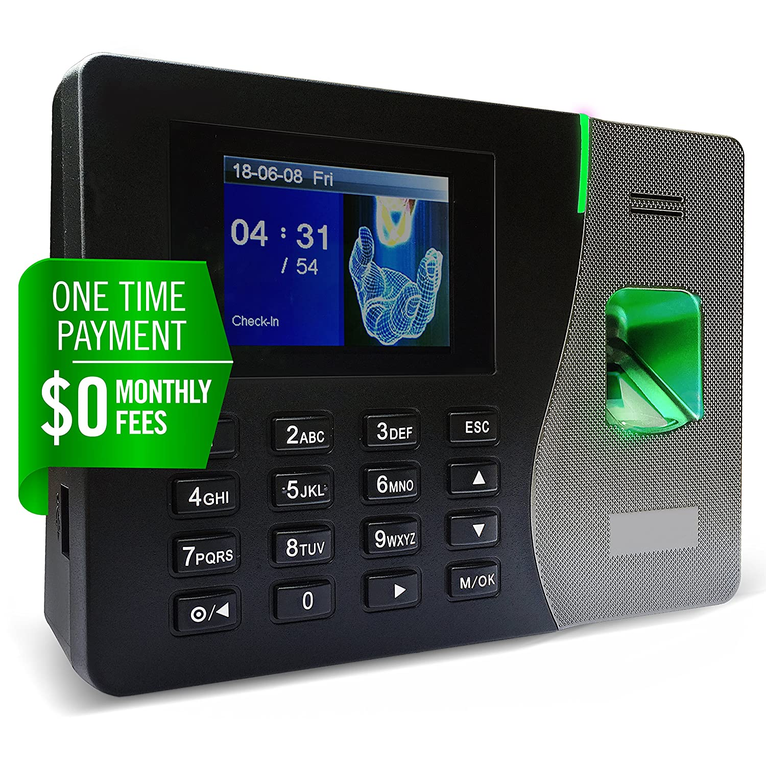 Silver Plus | $0 Monthly Fee | Fingerprint Proximity Time Clock Employees | Download Data Automatically | Dynamic Reports | Requires Pro Suite Software (ONE-TIME Payment) | Lifetime Upgrade Temporary empty
