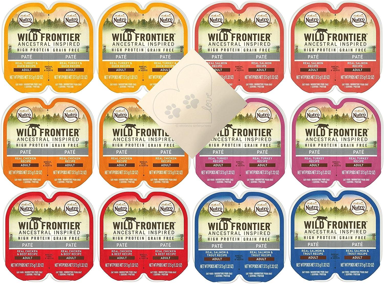NUTRO Portions Wild Frontier Paquete Variado – 6 sabores totales: Pavo, Pollo, salmón, Carne de Res y Pollo, Pato y Pavo, y salmón y Trucha (24 porciones, 12 latas en Total): Amazon.es: