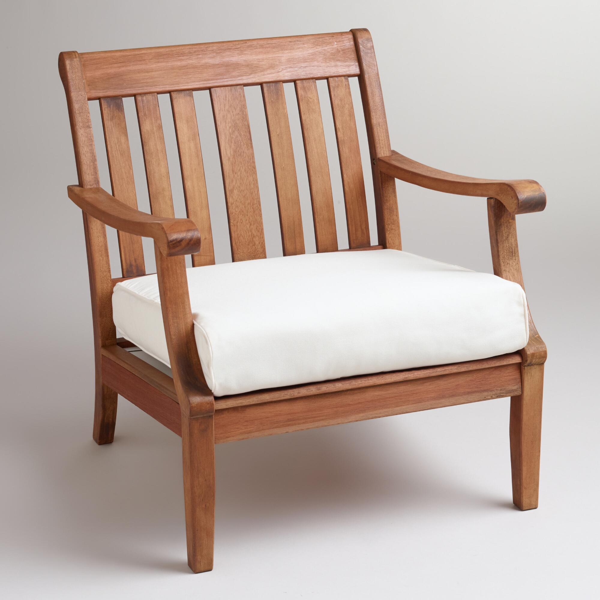 Wood St. Martin Occasional Chair with Cushion | World Market