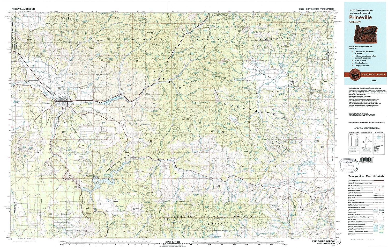 Amazon Com Yellowmaps Prineville Or Topo Map 1 100000