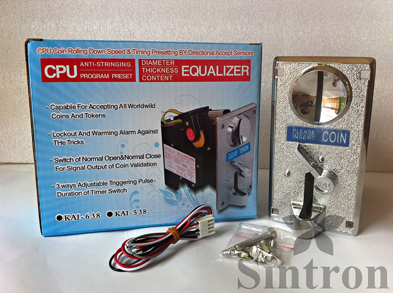 Sintron Kai-638 Comparable Roll Down Coin Mech Acceptor Coin Selector for Arcade Game 8 liner Etc.