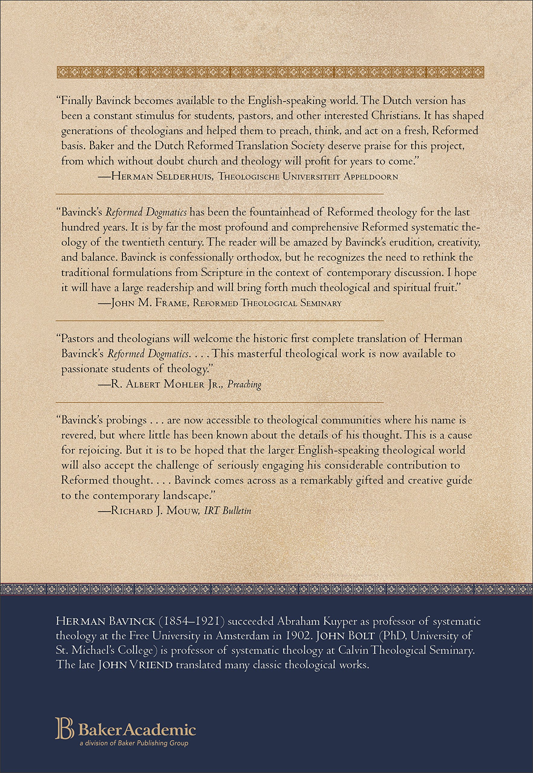 Reformed dogmatics vol 1 prolegomena herman bavinck john bolt reformed dogmatics vol 1 prolegomena herman bavinck john bolt john vriend 9780801026324 amazon books fandeluxe Choice Image