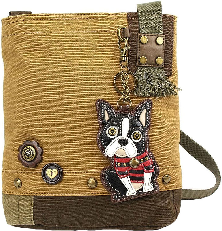 Dog Mom Gift Chala Boston Terrier Zip-Around Wristlet Wallet