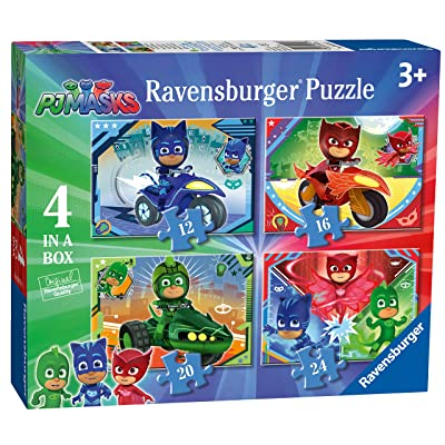 Ravensburger PJ Masks 4 in a Box (12, 16, 20, 24pc) Jigsaw Puzzles: Toys & Games