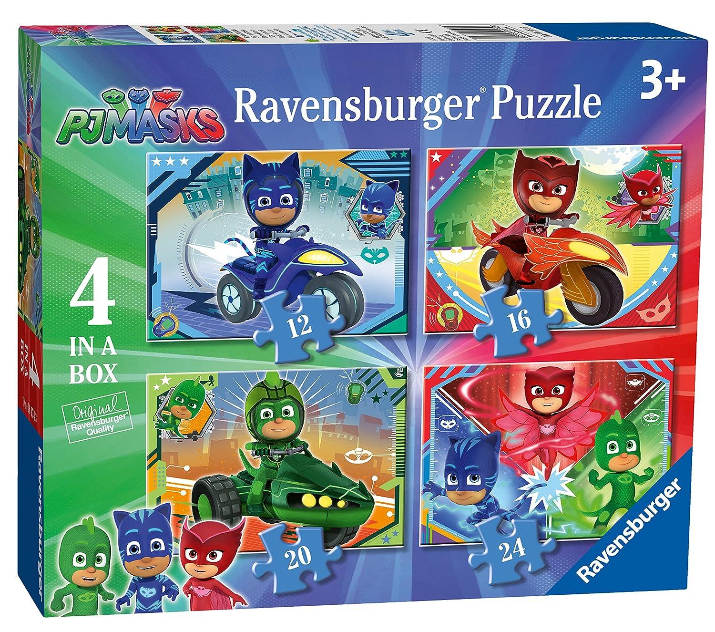 Ravensburger UK 6974 PJMasks 4 en una Caja (12, 16, 20, 24 Piezas) Puzzles de Sierra: Amazon.es: Juguetes y juegos