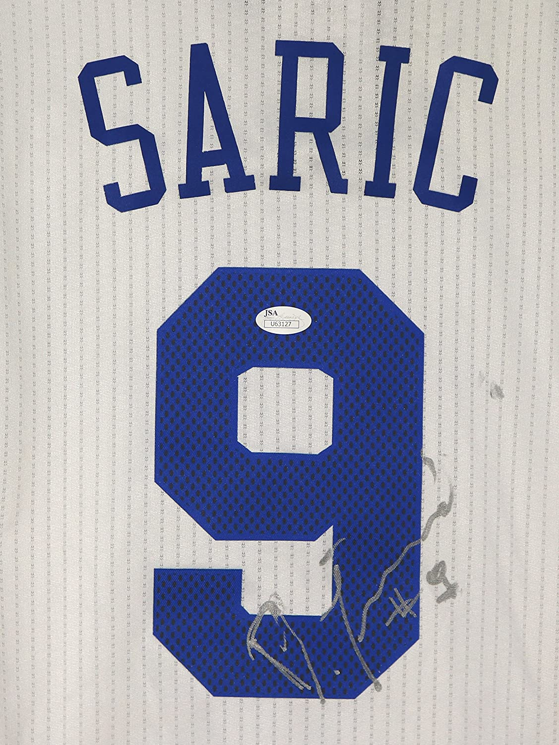 7539a11805f Dario Saric Philadelphia 76ers Signed Autographed White  9 Jersey JSA COA at  Amazon s Sports Collectibles Store