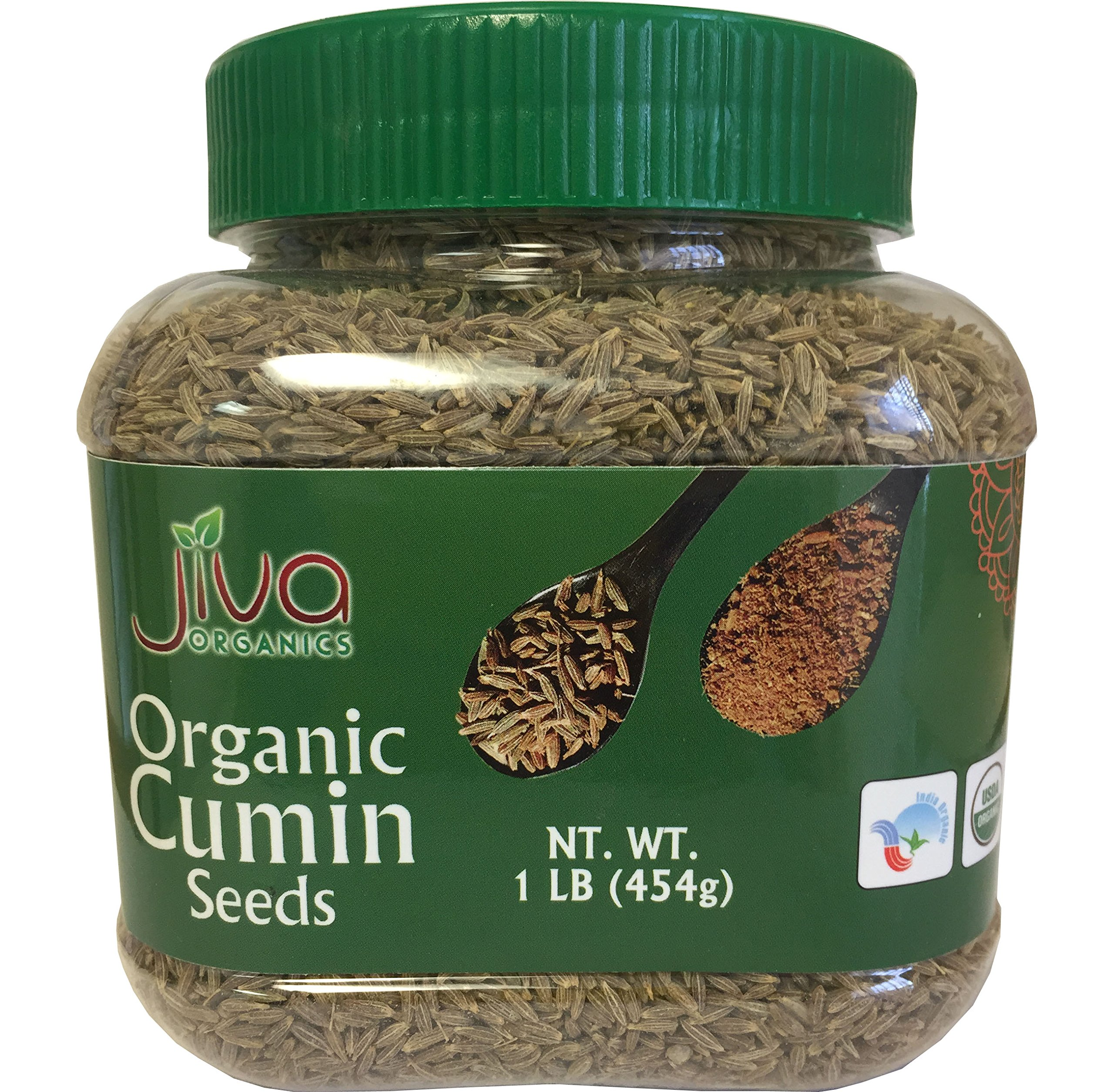 Jiva Organic Cumin Seeds Whole 1 Pound Jar