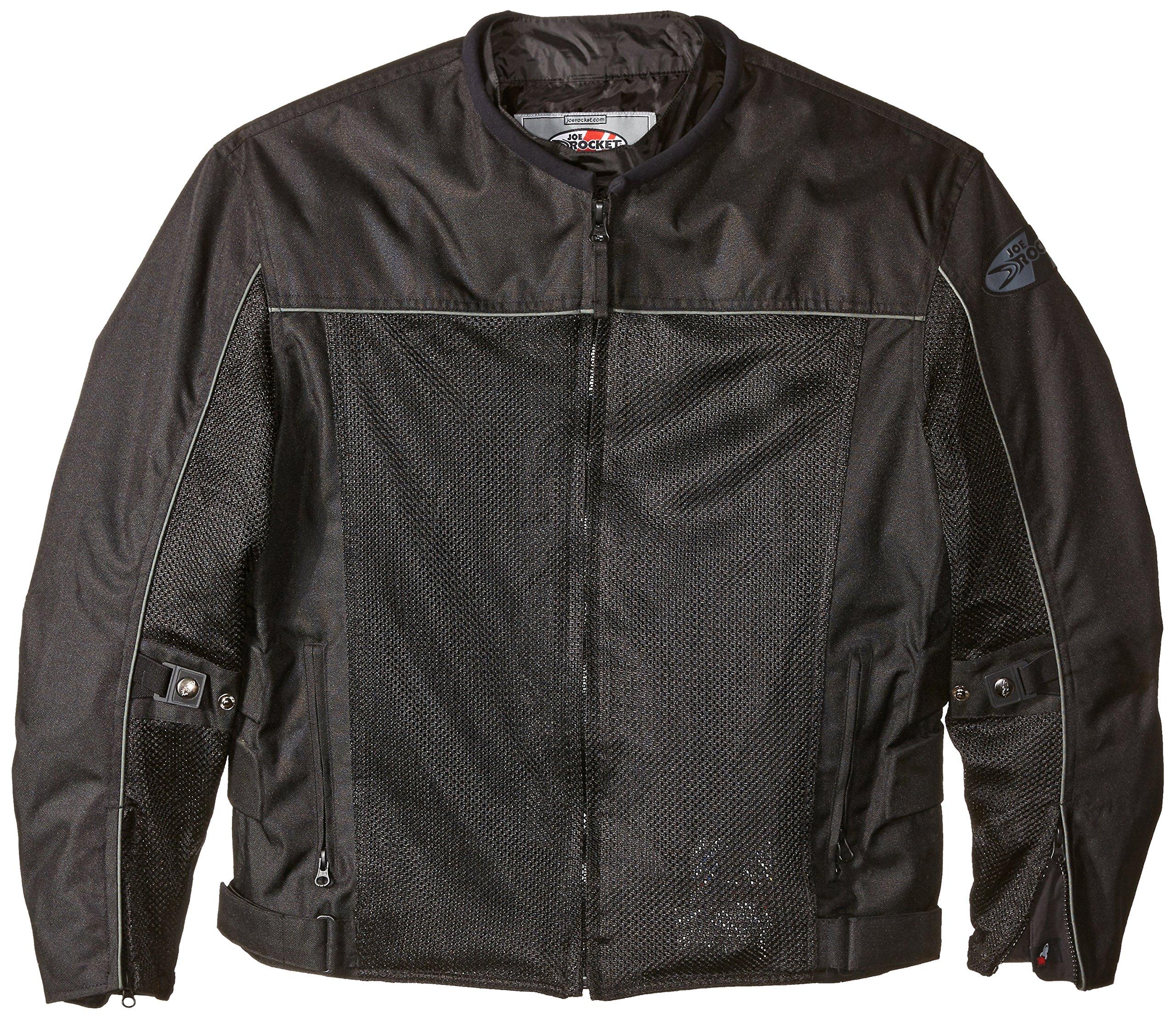Joe Rocket Velocity Men's Mesh Riding Jacket (Black, X-Large)
