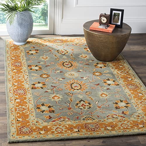 Safavieh Heritage Collection HG401A Blue and Orange Area Rug 9' x 12'