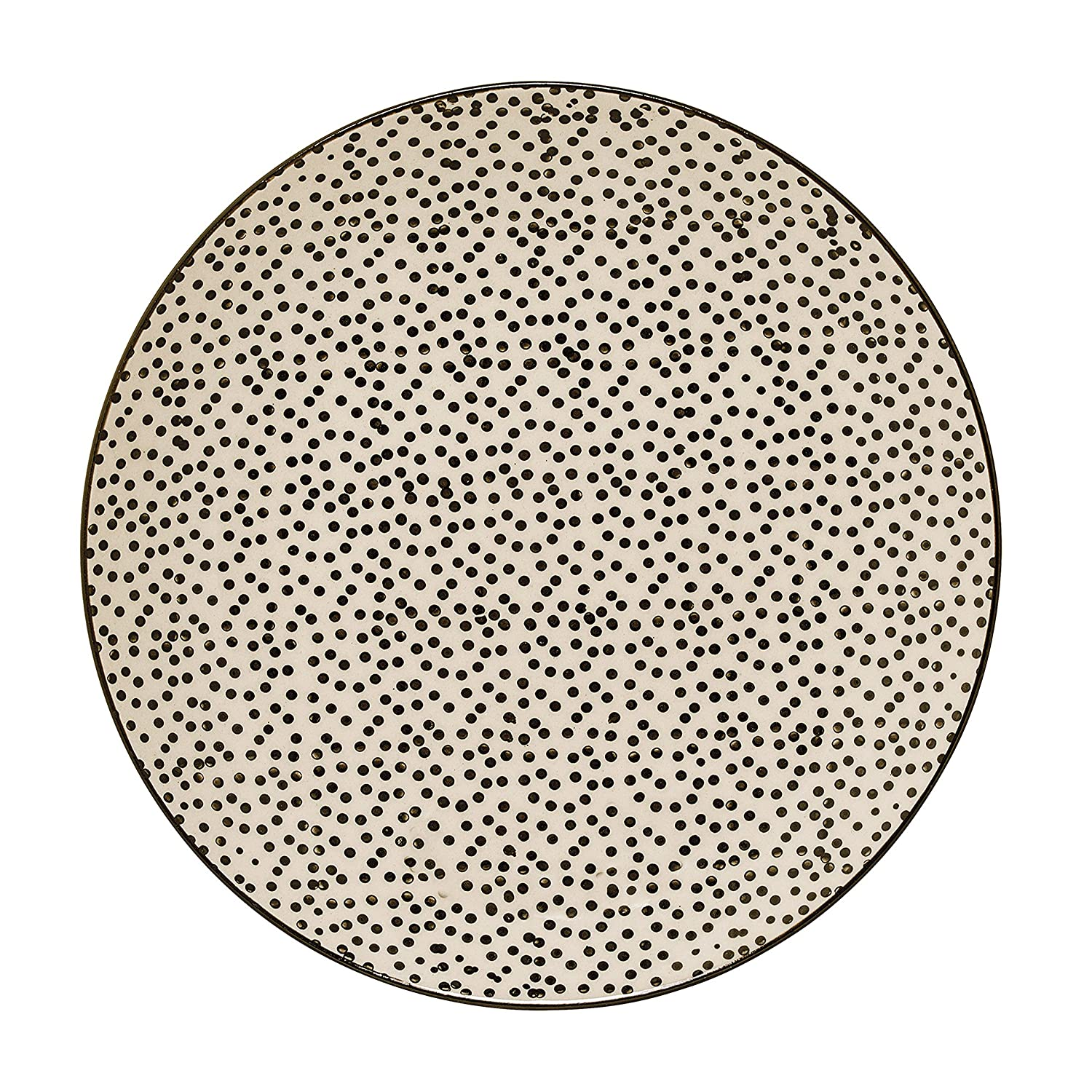 Small Multicolor Bloomingville Ceramic Julie Plate with Dots