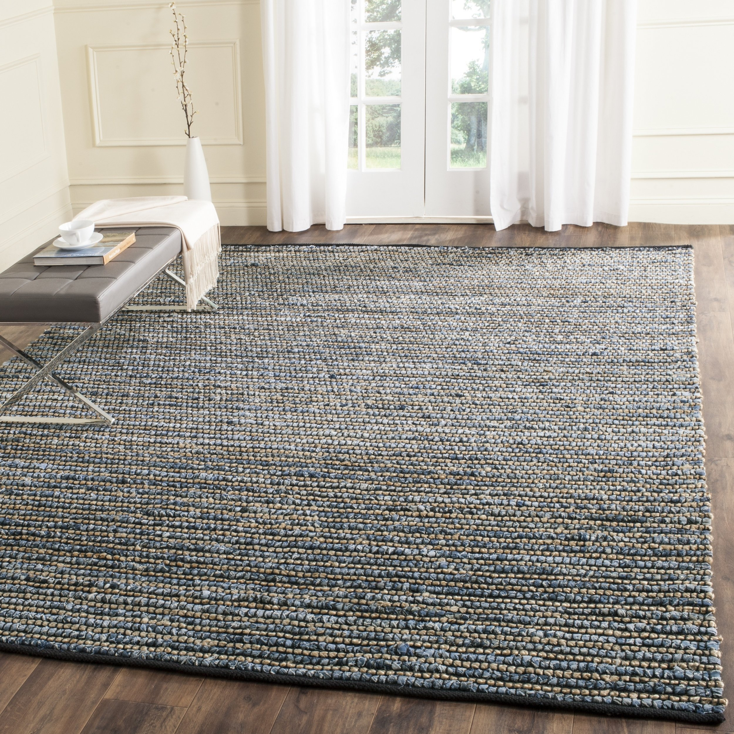 Safavieh Cape Cod Collection CAP365A Hand Woven Blue Jute Area Rug (11' x 16') by Safavieh