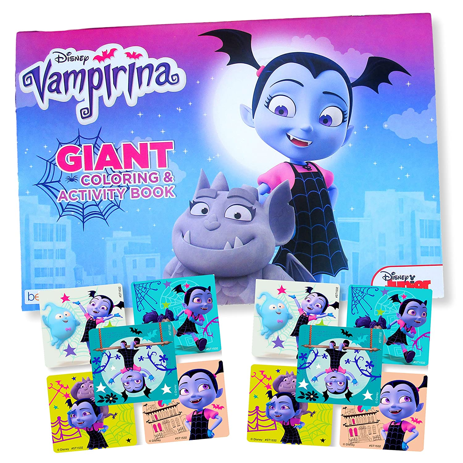 Disney Vampirina Coloring Book Jumbo Poster Sized Coloring Book With Stickers