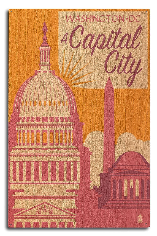 【送料無料/即納】  ワシントンDC – A 10 Capital 15 City 12 x 18 x Metal Sign LANT-73507-12x18M B07366YCJF 10 x 15 Wood Sign 10 x 15 Wood Sign, ユニフォームネット:e4440742 --- arianechie.dominiotemporario.com