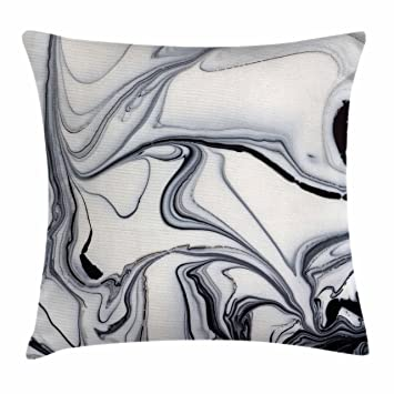 Amazon Com Ambesonne Marble Throw Pillow Cushion Cover