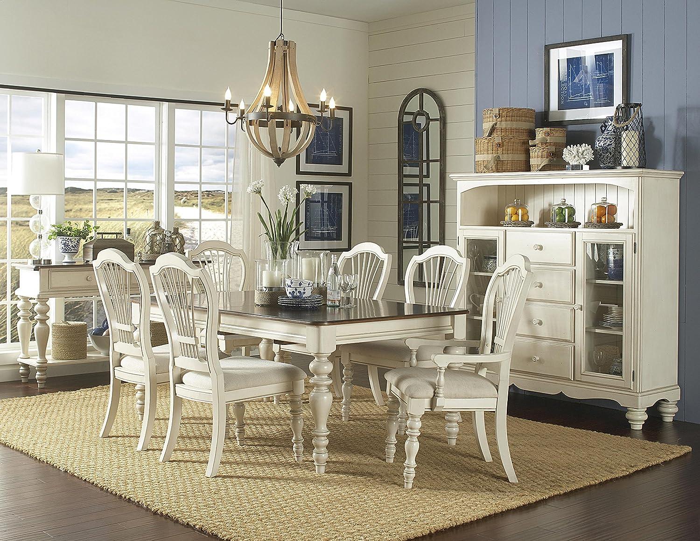 Amazon.com: Hillsdale Pino Isla 7 pieza mesa de comedor ...