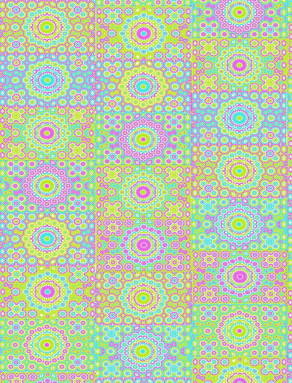 Azul 3 Unidades Decopatch Papel Decorativo 395 x 298 mm de Tubo de Flores y dise/ño de c/írculos