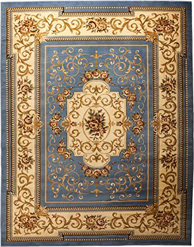 Home Must Haves Area Huge Blowout Sale French Design Rug Light Blue Medallion Carpet Floral