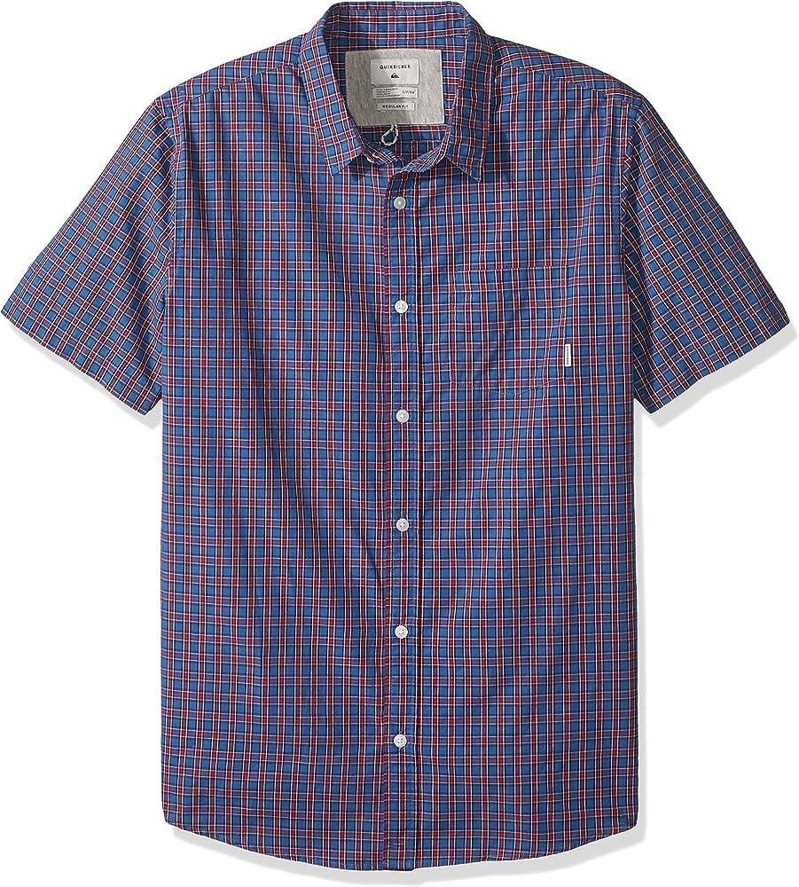 Quiksilver Hombre EQYWT03643 con Botones Manga Corta Camisa de Vestir - Azul - Small: Amazon.es: Ropa y accesorios