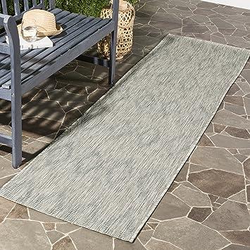Amazon Com Safavieh Courtyard Collection Cy8522 Indoor Outdoor Non Shedding Stain Resistant Patio Backyard Runner 2 3 X 8 Grey Grey Furniture Decor