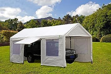 SORARA Carport 10 x 20 ft Heavy Duty Canopy Garage Car Shelter with Windows and Sidewalls & Amazon.com: SORARA Carport 10 x 20 ft Heavy Duty Canopy Garage Car ...
