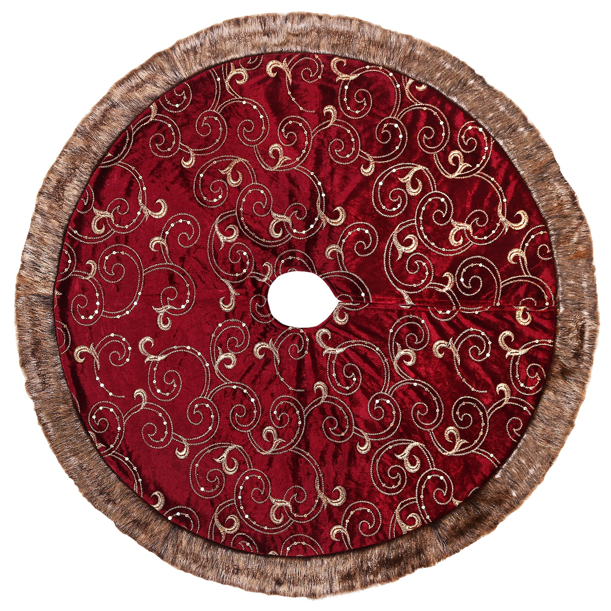 Valery Madelyn 48 inch Luxury Burgundy and Gold Christmas ...