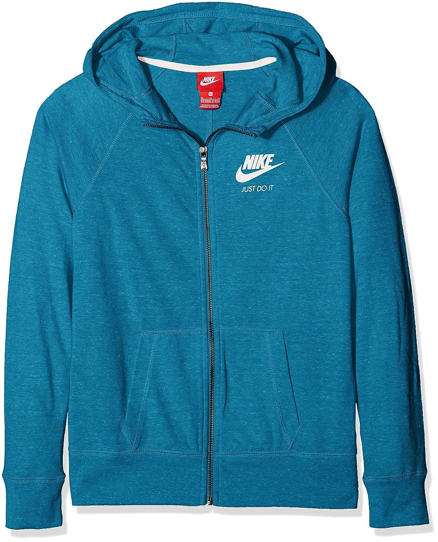 MultiCouleure - Vert (vert Abyss Sail) S Nike g NSW VNTG sweat à capuche FZ Sweat, Filles