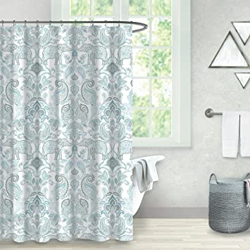 Amazon.com: Balmont Collection Elephant Paisley Shower Curtain, 72 ...