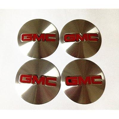 GMC 4 NEW 55 MM WHEEL CENTER CAP EMBLEMS STICKER DECAL: Automotive