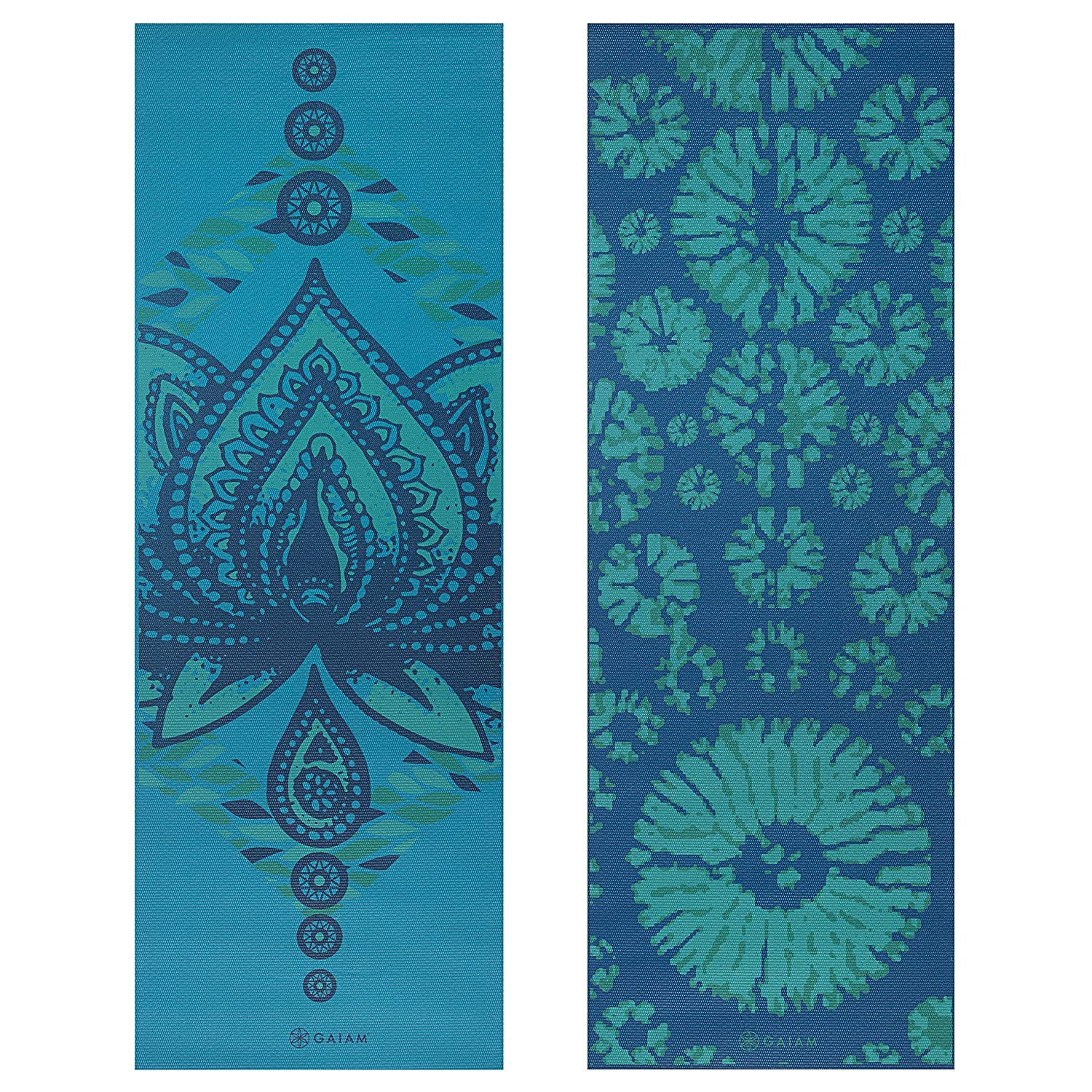Pilates /& Floor Exercises Premium 6mm Print Reversible Extra Thick Exercise /& Fitness Mat for All Types of Yoga Gaiam Yoga Mat Elephant 5//6mm 05-61547 Accessory Fitness//Self-Help 68 x 24 x 6mm Thick