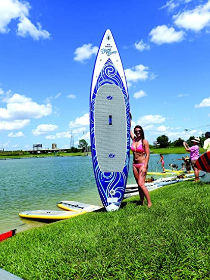 Stand Up Paddleboards >> Amazon Com Solstice By Swimline Bora Bora Inflatable Stand Up