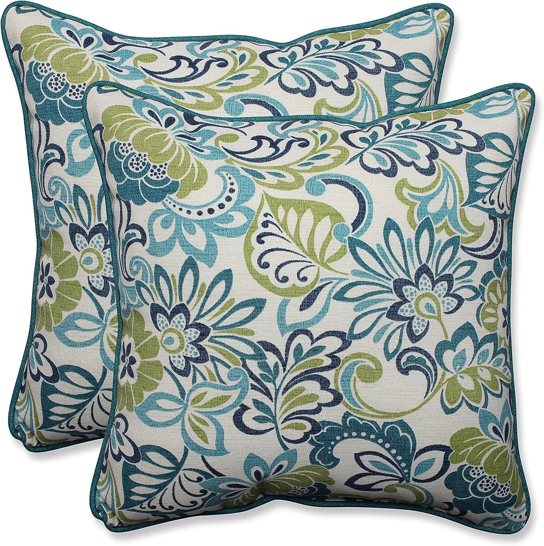 Pillow Perfect Outdoor Indoor Zoe Mallard Throw Pillow Set Of 2 18 5 Inch Amazon Ca Home Kitchen