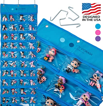 40 Clear View Pockets Roll Up HOME4 Hanging LOL dolls Toy Storage Organizer