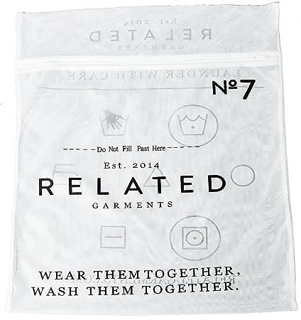 cde5cc54d579 Amazon.com: Related Garments Garment Washable Travel Laundry Bag, 19 ...