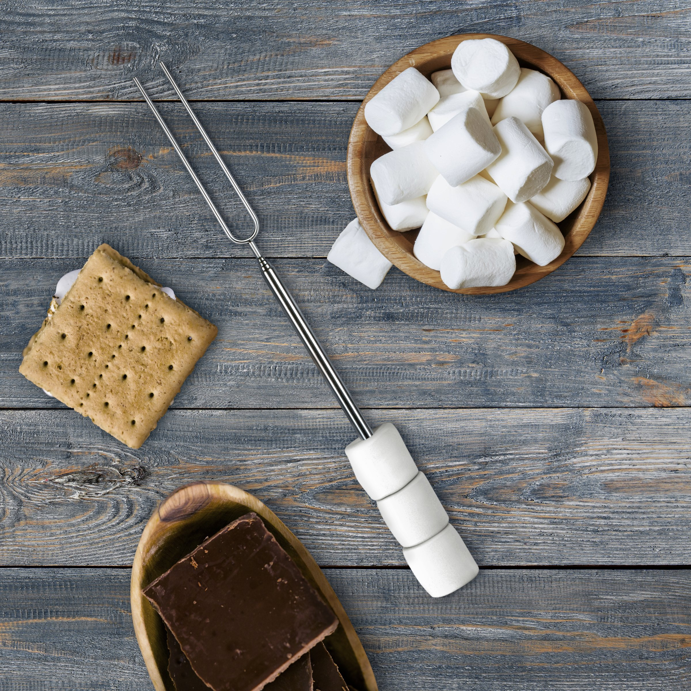 Fred TOASTY Marshmallow Roasting Skewers, Set of 4 by Fred & Friends (Image #4)