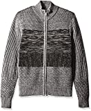 GUESS Men's Marled Sweater, Jet Black Multi, M