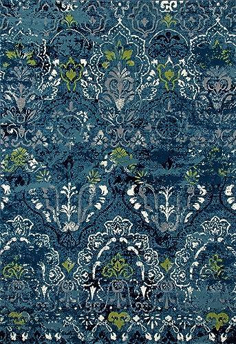 Art Carpet Bastille Collection Emerge Woven Area Rug, 5 x 8 , Teal Gray Linen