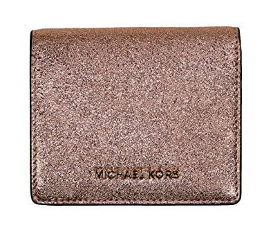 59bc45d2f4e9 Amazon.com: Michael Kors Money Pieces Snap Flap Card Holder Wallet (Soft  Pink): Shoes