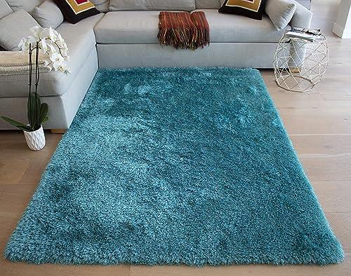 LA Rug Linens Branding Romance Design Turquoise Color 8×10 Feet
