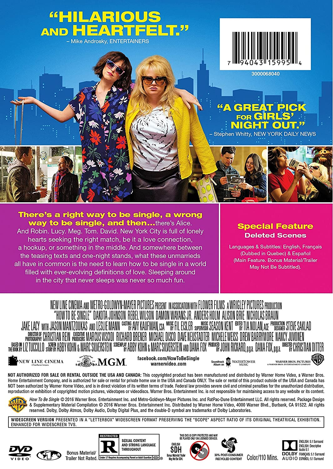 Amazon: How To Be Single: Dakota Johnson, Rebel Wilson, Damon Wayans  Jr, Anders Holm, Alison Brie, Nicholas Braun, Jake Lacy, Jason Mantzoukas,