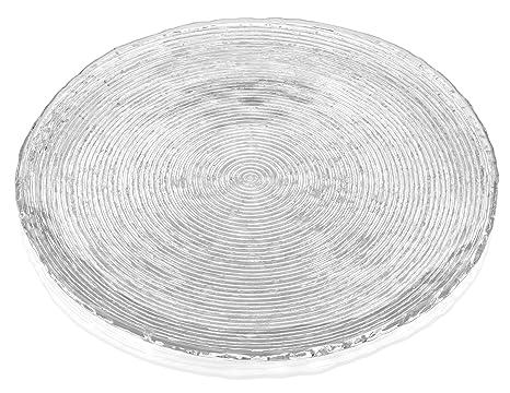 IVV Glassware Cake Plate 14-1/2-Inch Diameter Wave  sc 1 st  Amazon.com & Amazon.com: IVV Glassware Cake Plate 14-1/2-Inch Diameter Wave: Cut ...