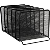 Rolodex Mesh Collection Stacking Sorter, 5-Section, Black (22141)