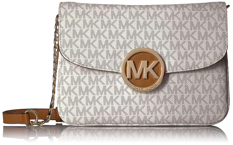 e5cd43e82bcc Michael Kors Women's Fulton Flap Gusset Crossbody, Brown: Handbags:  Amazon.com