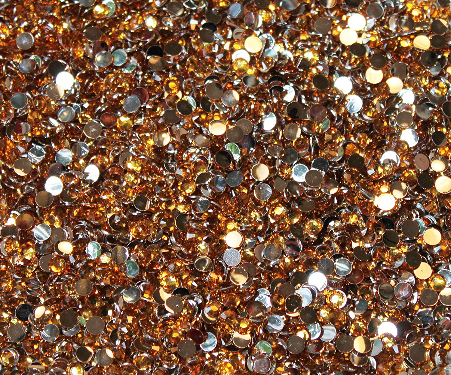CRAFTS CITRINE 2mm RESIN FLAT BACK RHINESTONES DIAMANTE GEMS FOR NAIL ART