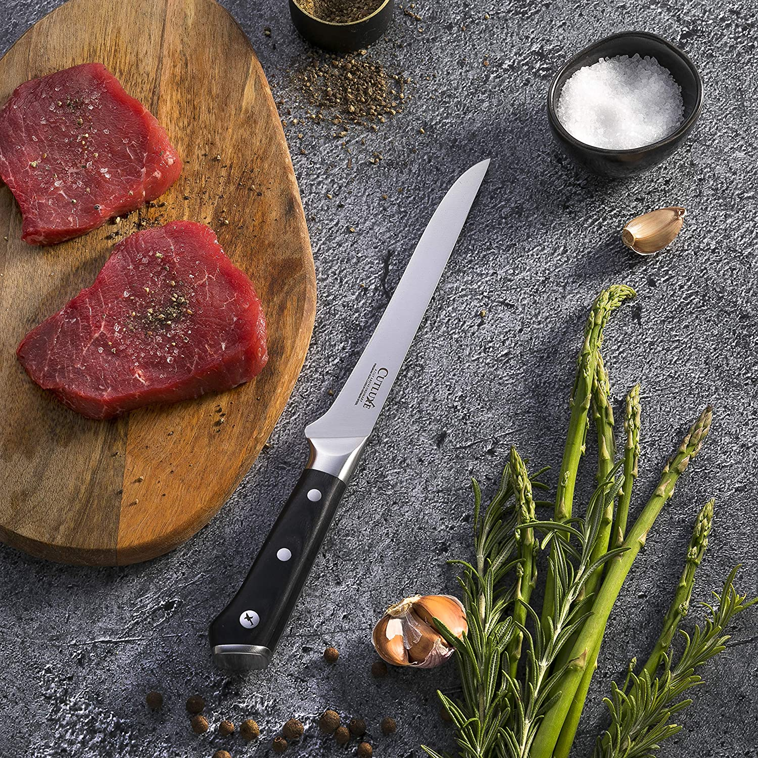 Cutluxe 6 Inch Flexible Forged  Deboning knife
