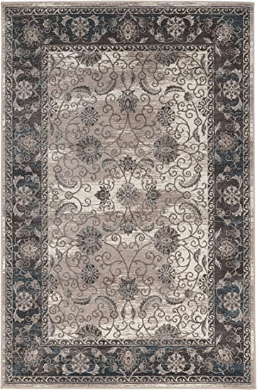 Gray Linon Vintage Collection Isfahan Synthetic Rugs 2 x 10